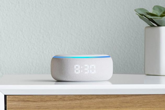 Amazon's new Echo Dot has a built-in clock