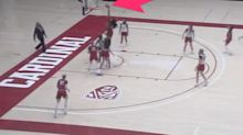 One of the few women's college basketball stars who can dunk threw down a casual slam during a scrimmage
