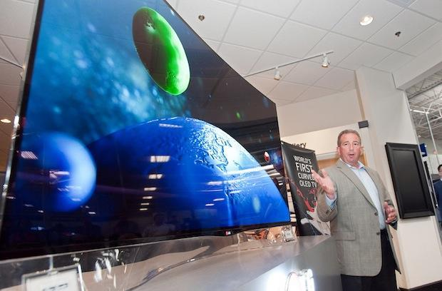 LG cuts the price of its curved OLED TV to a vaguely reasonable $7,000