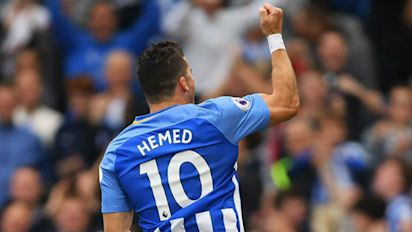 Hemed's strike lifts Brighton past Newcastle