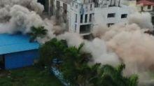 Three-star hotel intentionally blown up