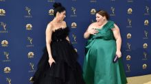 Chrissy Metz Just Walked The Emmys Red Carpet In An Arm-Baring Green Dress