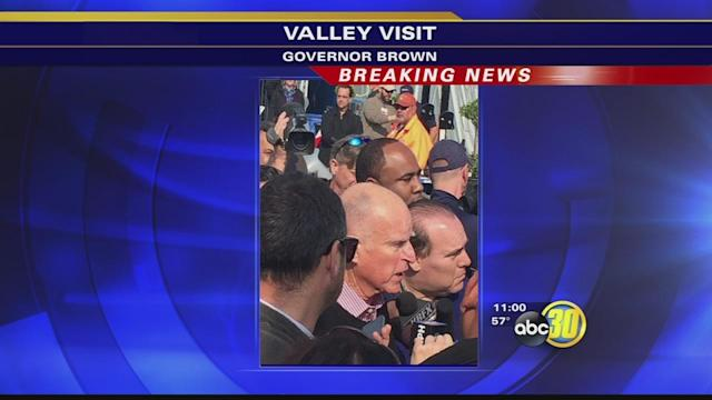 Governor Jerry Brown visits the World Ag Expo