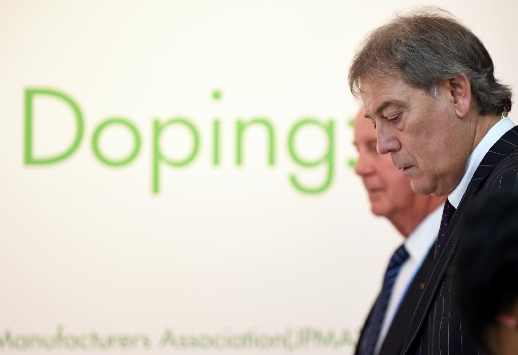 "World Anti-Doping Agency director general David Howman (R), pictured on January 28 2015, said it would be ""reckless to draw conclusions on the basis of limited information"" following allegations of mass doping (AFP Photo/Toshifumi Kitamura)"