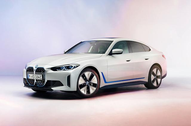 BMW offers a first look at its production i4 electric sedan