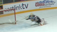 QMJHL goalie's errant pass leads to great desperation save (Video)