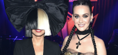 Sia and Katy Perry. (Getty Images)