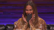 Chrissy Teigen accidentally shares Kourtney Kardashian impression on 'Bring the Funny'