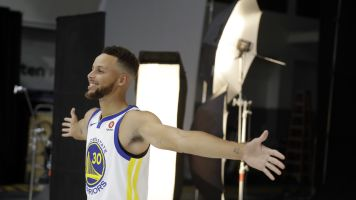 Stephen Curry is pretty sure the moon landing was faked, just in case you cared