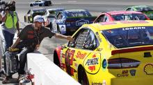 After NASCAR makes him sit on pit road, Joey Logano calls practice punishment a 'joke'