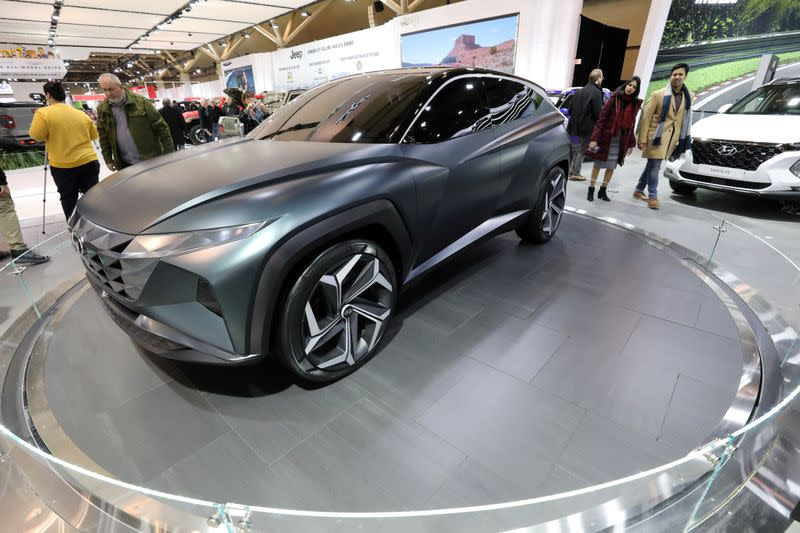 FILE PHOTO: The Hyundai Vision T electric concept vehicle is displayed at the Canadian International Auto Show in Toronto