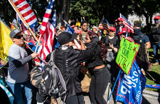 news.yahoo.com: 'I'm Just Getting Cornered by 30, 40 People': A Trump Mob in Los Angeles Attacked a Black Woman on Same Day as U.S. Capitol Terror