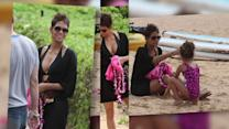 Halle Berry Shows Off Her Fabulous Figure in a Bikini Top in Hawaii