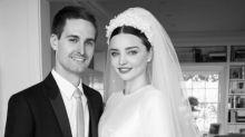 El vestido de novia con el que se casó Miranda Kerr con Evan Spiegel