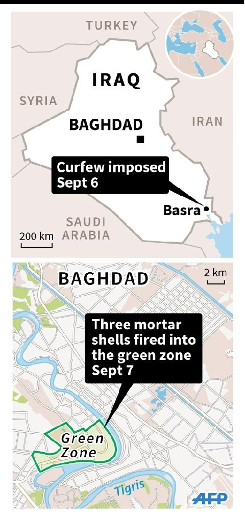 Map of Iraq locating Baghdad and Basra. (AFP Photo/AFP )