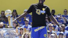 Draymond Green tried some stand-up comedy at the Warriors' parade
