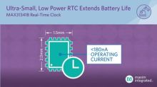 Maxim nanoPower Real-Time Clock Offers Industry's Smallest Package and Longest Battery Life