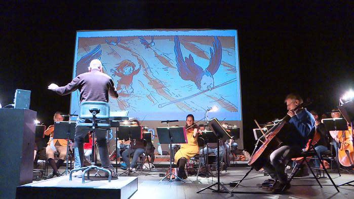 Une BD illustre, en direct, la 40e symphonie de Mozart jouée par l'orchestre national de Picardie