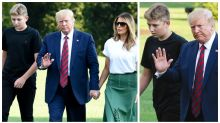 Barron Trump all grown up in rare public outing