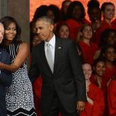 The Obama and Bush families at the National Museum of African American History opening are making us a little misty, guys