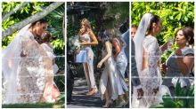 All the snaps of Snezana arriving at her wedding to Sam Wood