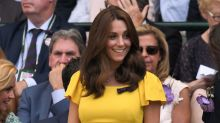 Duchess of Cambridge is unmissable in canary yellow for her second day at Wimbledon