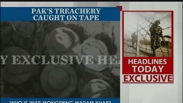 Oh really Ms Khar, what are Pak ordnance-made mines doing on our side of the fence?