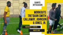 Watch: Winston leads Saints' Smith, Callaway, Johnson, and Jones, Jr. at Workout with RouteGod
