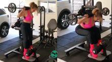 """Joelma faz musculação usando bota de salto: """"Só presto assim"""""""