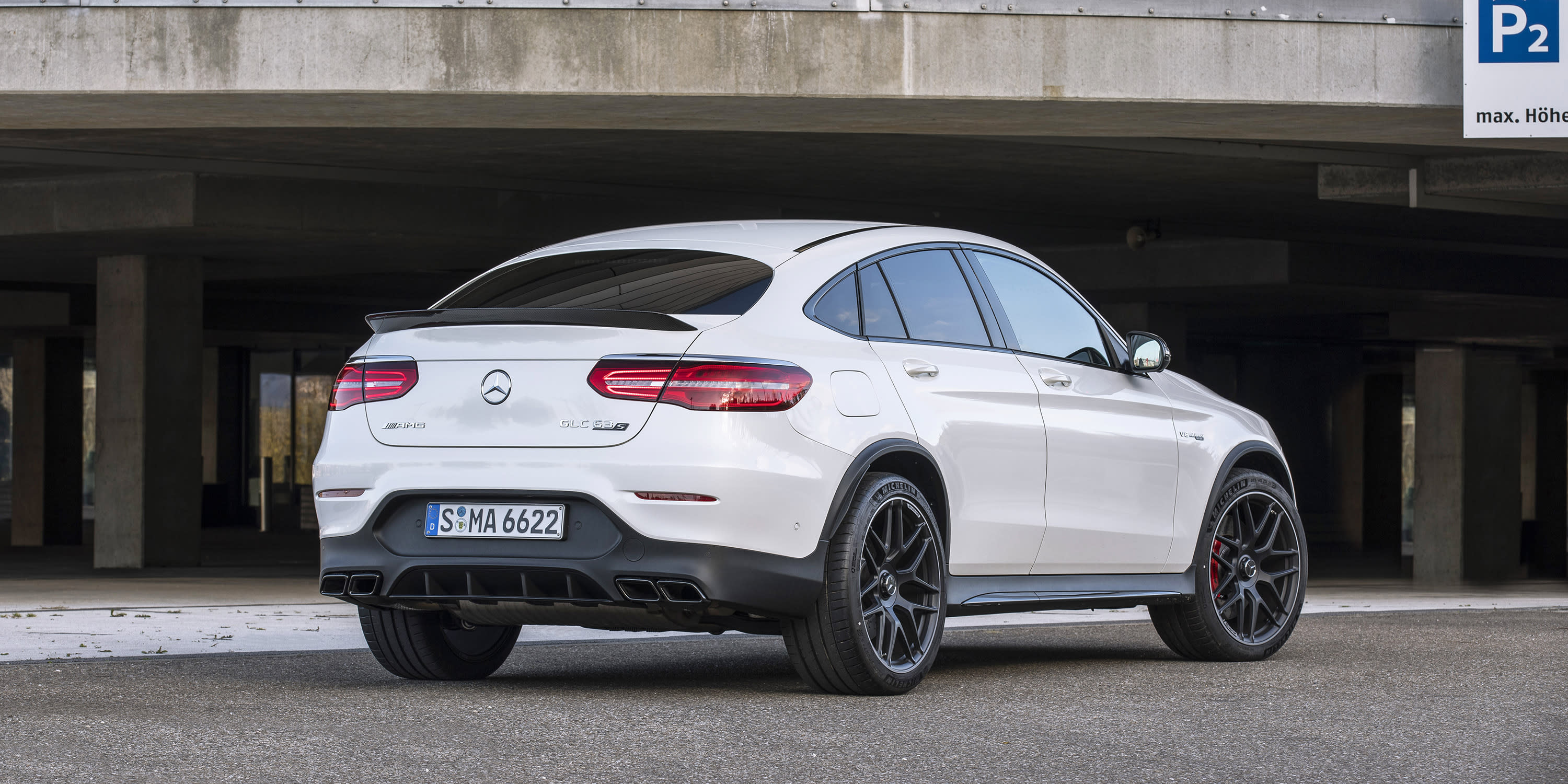U Uu Glc >> Mercedes-AMG GLC63 S Coupe: The Wing Says It All