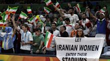 Olympic officials to Iranian fan: Take down sign or leave