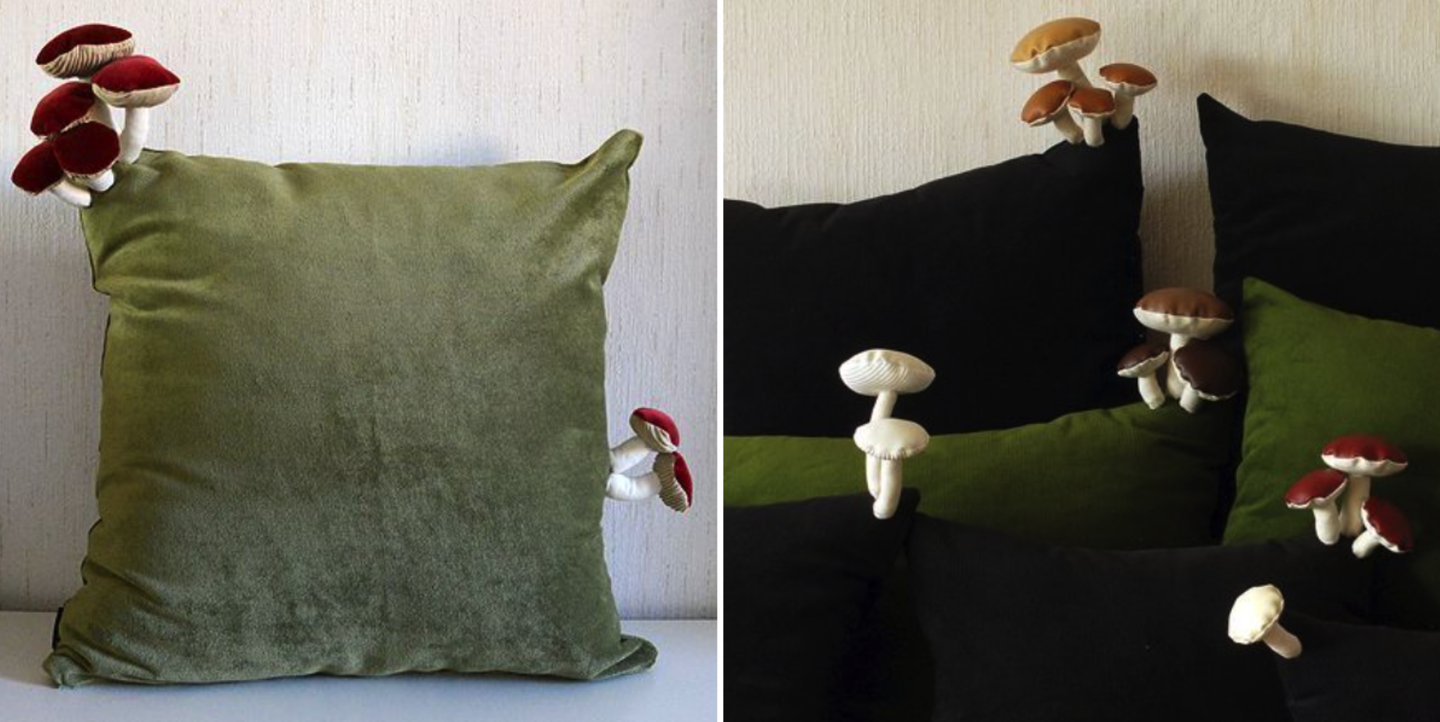 These Decorative Mushroom Throw Pillows Are Dividing The Internet