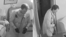 Watch shocking CCTV footage of a burglar stealing jewellery from dementia sufferer, 90, as she lay in bed