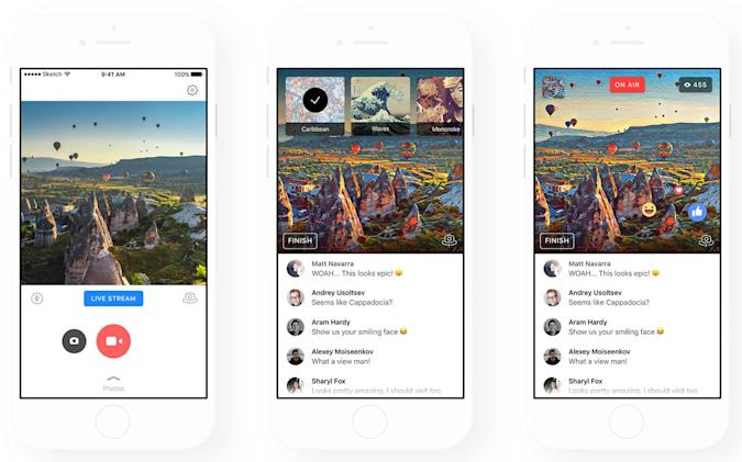 Prisma can turn Facebook Live broadcasts into artistic affairs