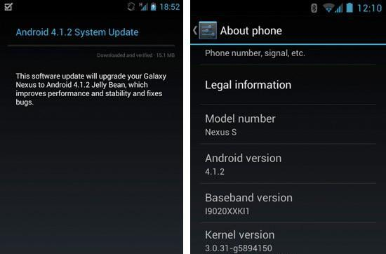 Galaxy Nexus, Nexus S start receiving Android 4.1.2 over the air
