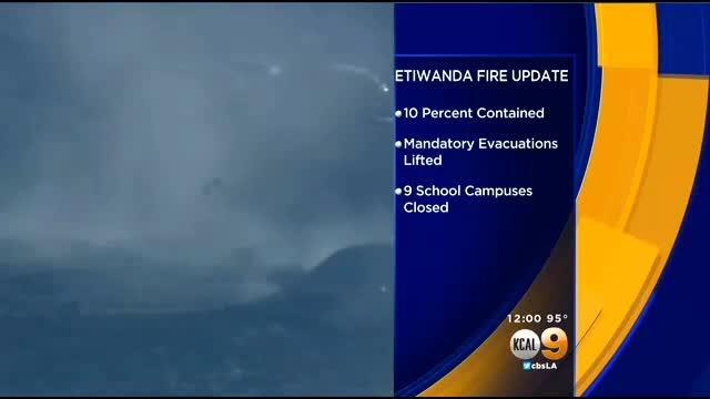 1K-Acre Etiwanda Fire 10 Percent Contained