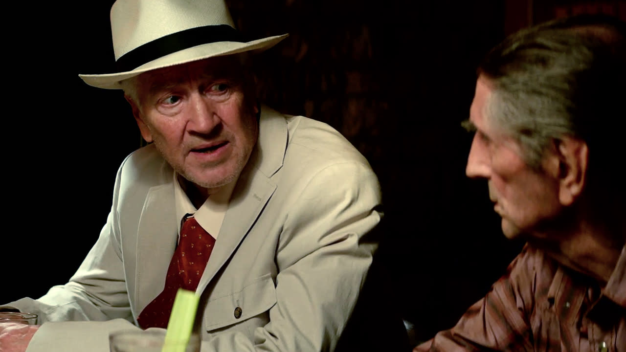 David Lynch (l.), Harry Dean Stanton