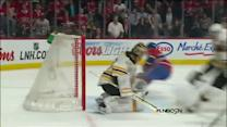 Rask denies Gionta's backhand on breakaway