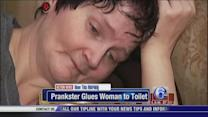 Prankster glues woman to Home Depot toilet