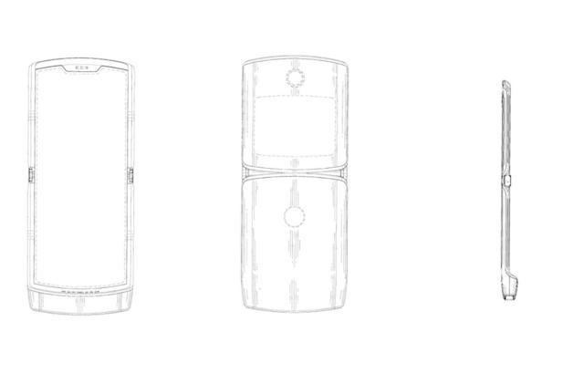 Motorola patent teases a RAZR-like phone with a foldable display