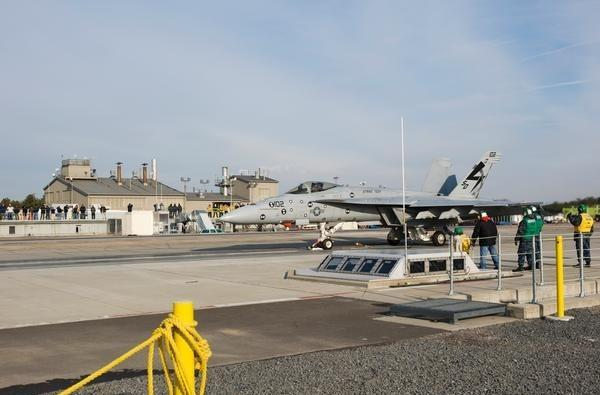 US Navy's Electromagnetic Aircraft Launch System launches first fighter jet (update: video!)