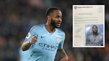 Raheem Sterling issues inspirational response to young Manchester City fan who suffered racist abuse