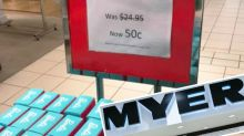 Myer store's 'naked' Barbie display baffles shoppers