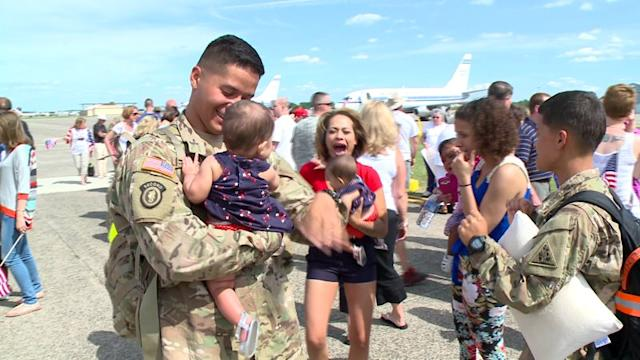 RAW VIDEO: Emotional Return For Connecticut Army National Guard Unit