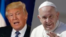 Putting campaign rhetoric behind him, Trump will come face to face with the pope