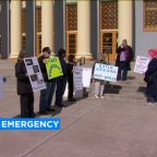 Local and nationwide protests erupt over President Trump's emergency declaration for border wall