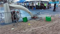 Three Hurt as Waterspout Sends Bouncy House Flying at Florida Beach