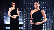 Pregnant Meghan Markle makes surprise appearance at Fashion Awards in bump-hugging gown