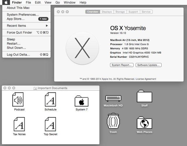 How to make Yosemite look like System 7