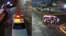 VIDEO | 'Grúas vs. Combis': una pelea llevada al extremo con choques y volcaduras en calles de México